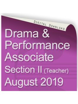 Drama and Performance Associate August 2019 (Teacher)
