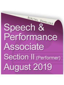 Speech and Performance Associate August 2019 (Performer)