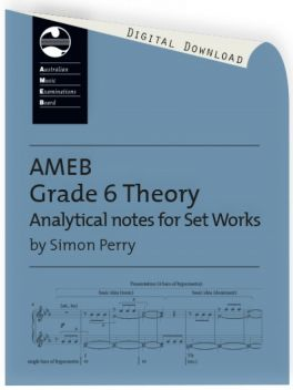 Theory of Music Analytical Notes for Set Works Grade 6