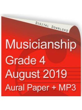 Musicianship August 2019 Grade 4 Aural
