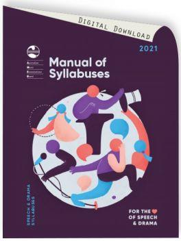 2021 Speech & Drama Manual of Syllabuses (download)